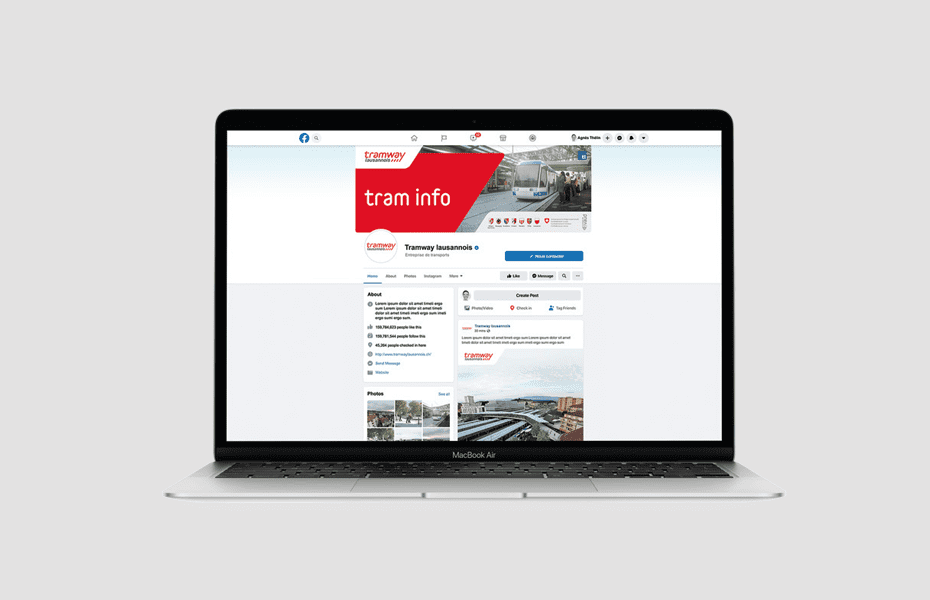 Site internet tramway lausannois